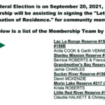 """LLRIB Membership team, will be assisting in signing """"Letter of Confirmation of Residence,"""" for upcoming Federal Election"""
