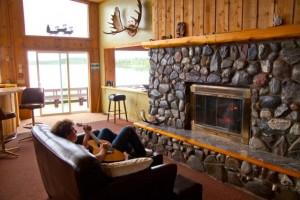 Local Rock Fireplace