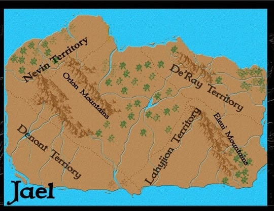creating a fantasy story country map