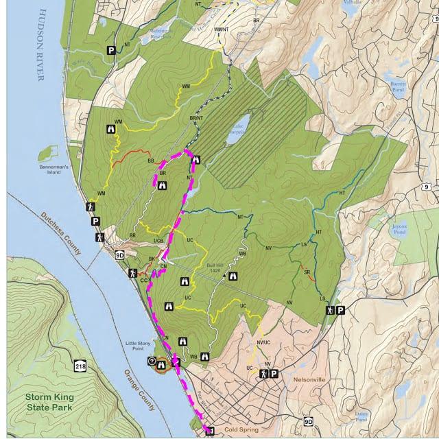 Hudson Highlands Map