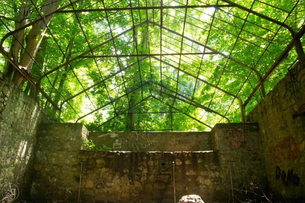 cornish estate ruins greenhouse ruins