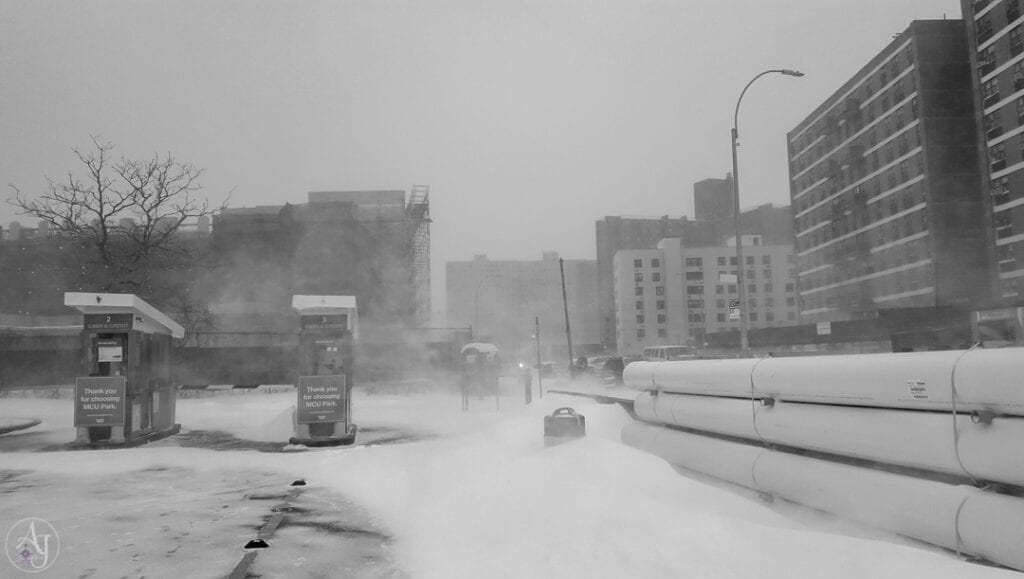 beautiful winter snowstorm photos in Brooklyn, NY