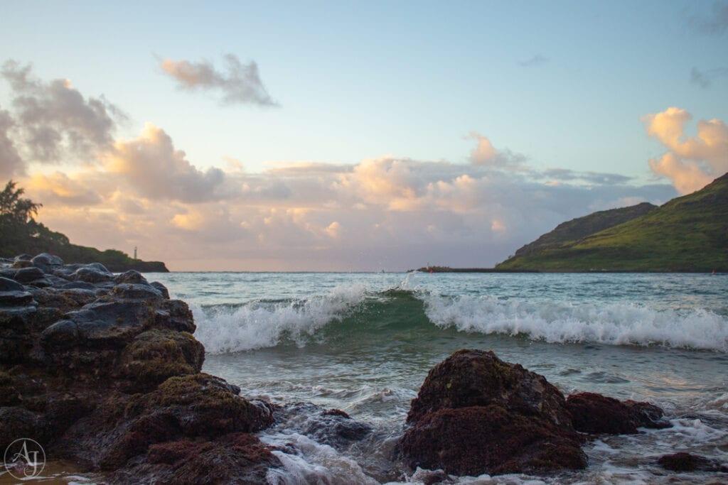 gorgeous nature photos over the Kauai, Hawaii ocean at sunrise