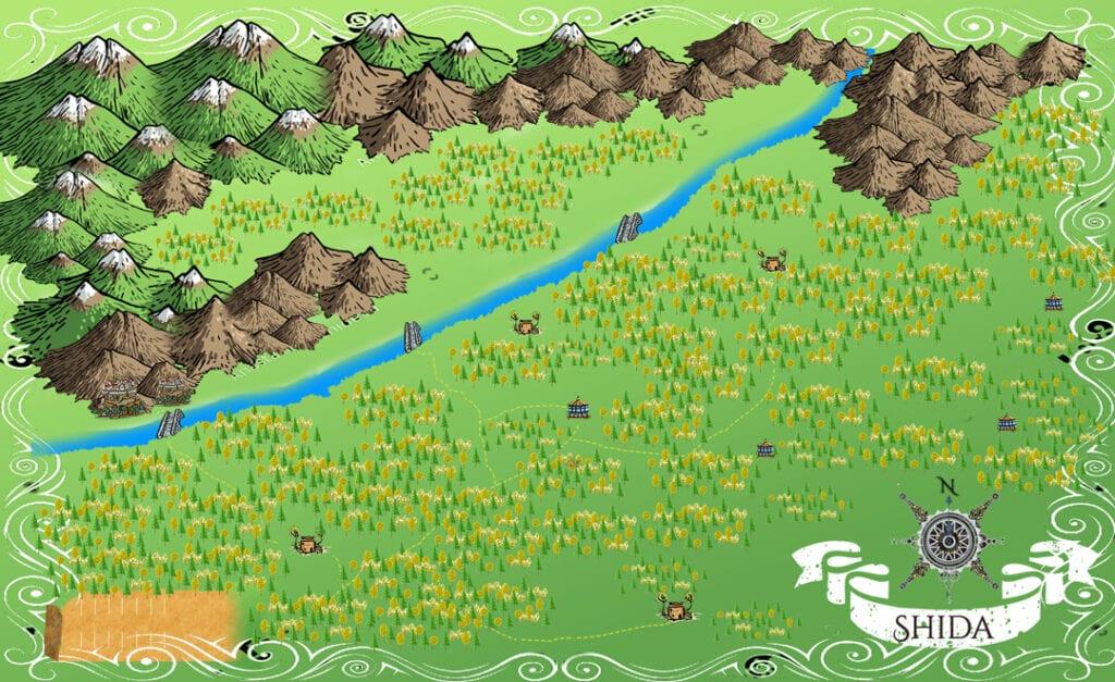 Shida fantasy town maps