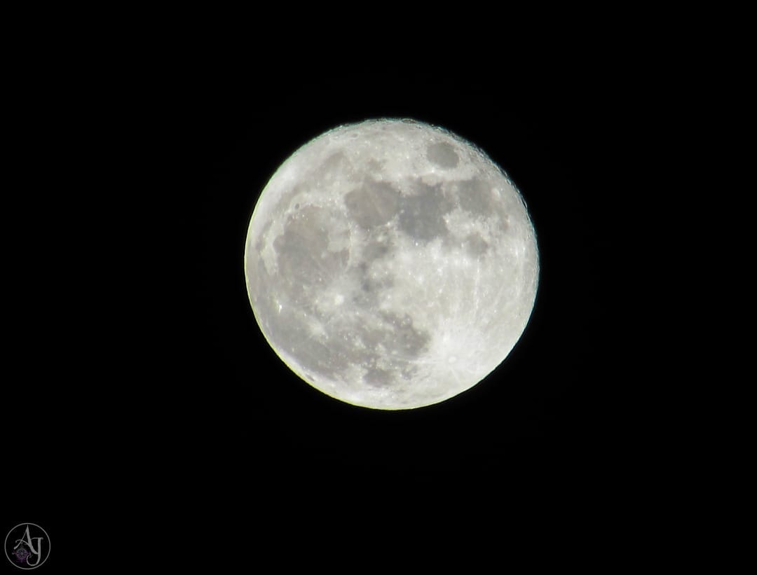 full moon nature photography