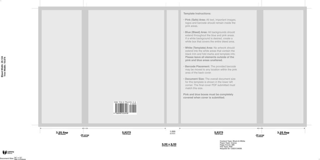 Book cover design cover template