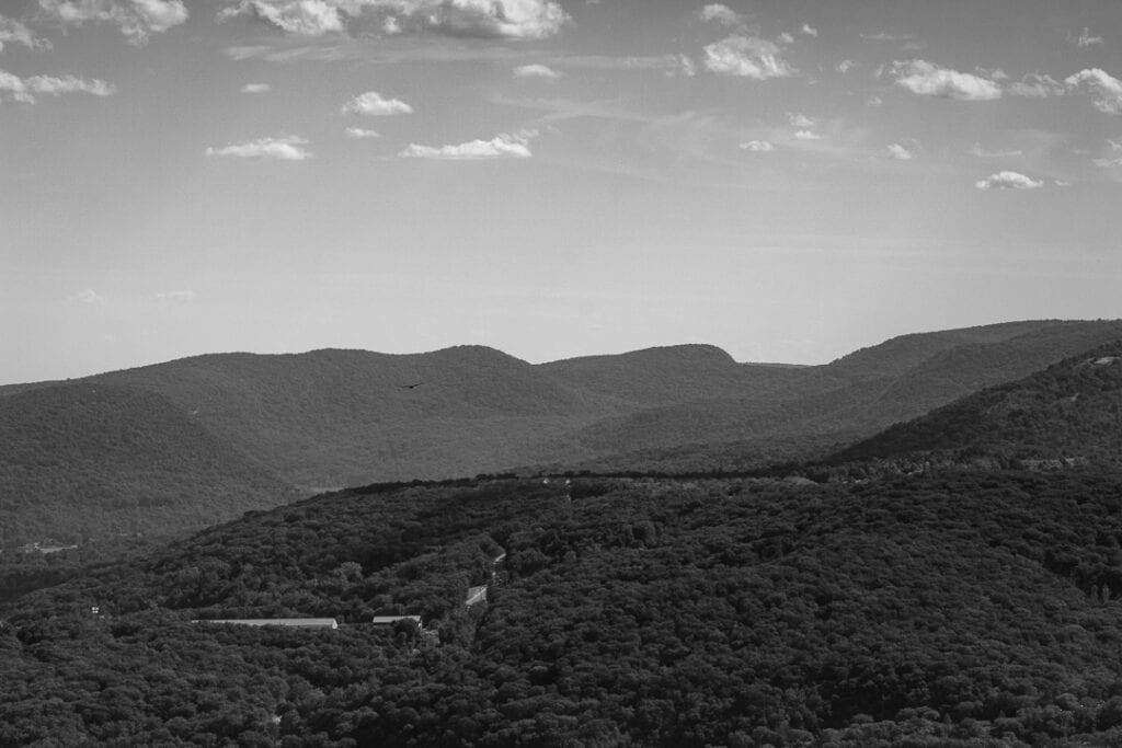 Hudson Highland State Park in Black and White