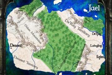 Jael fantasy story map