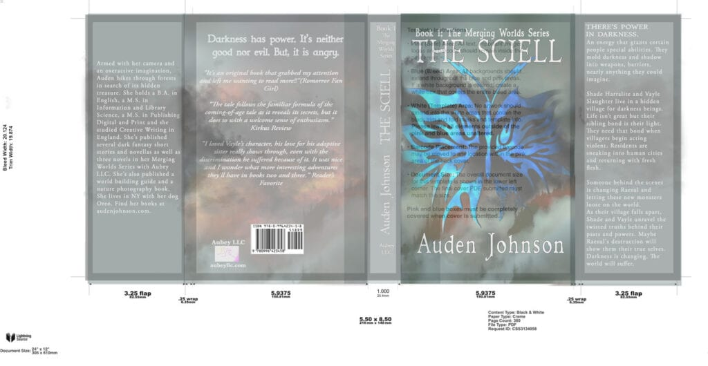 Paperback book cover design template example