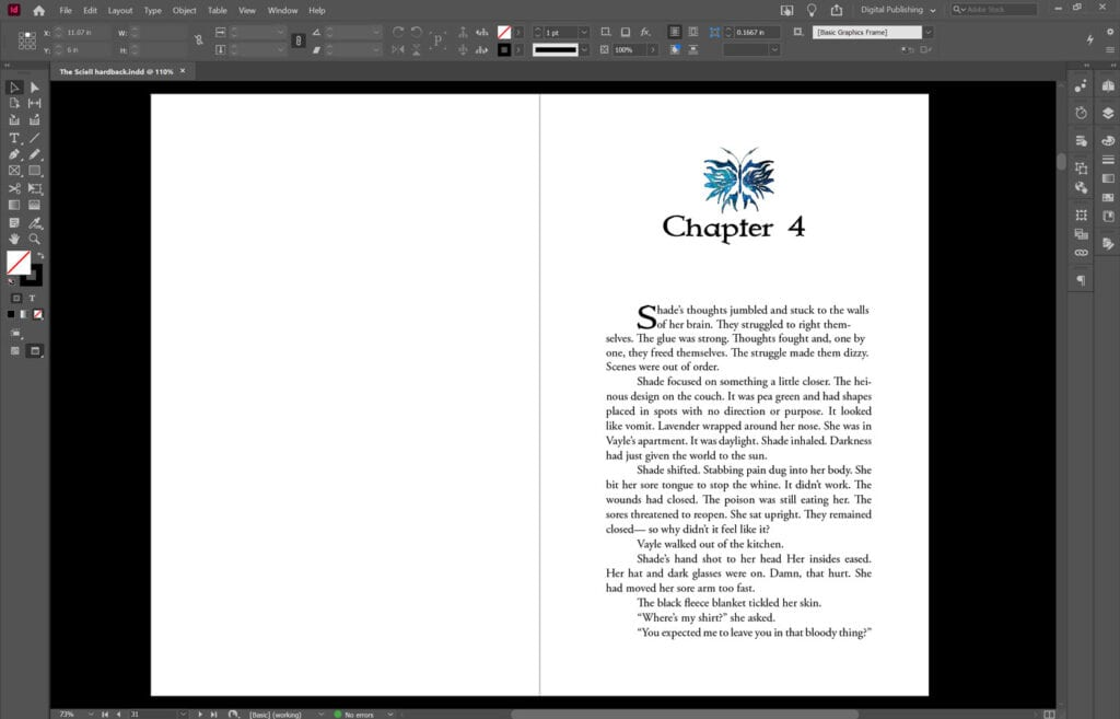 Book Formatting Chapter heading