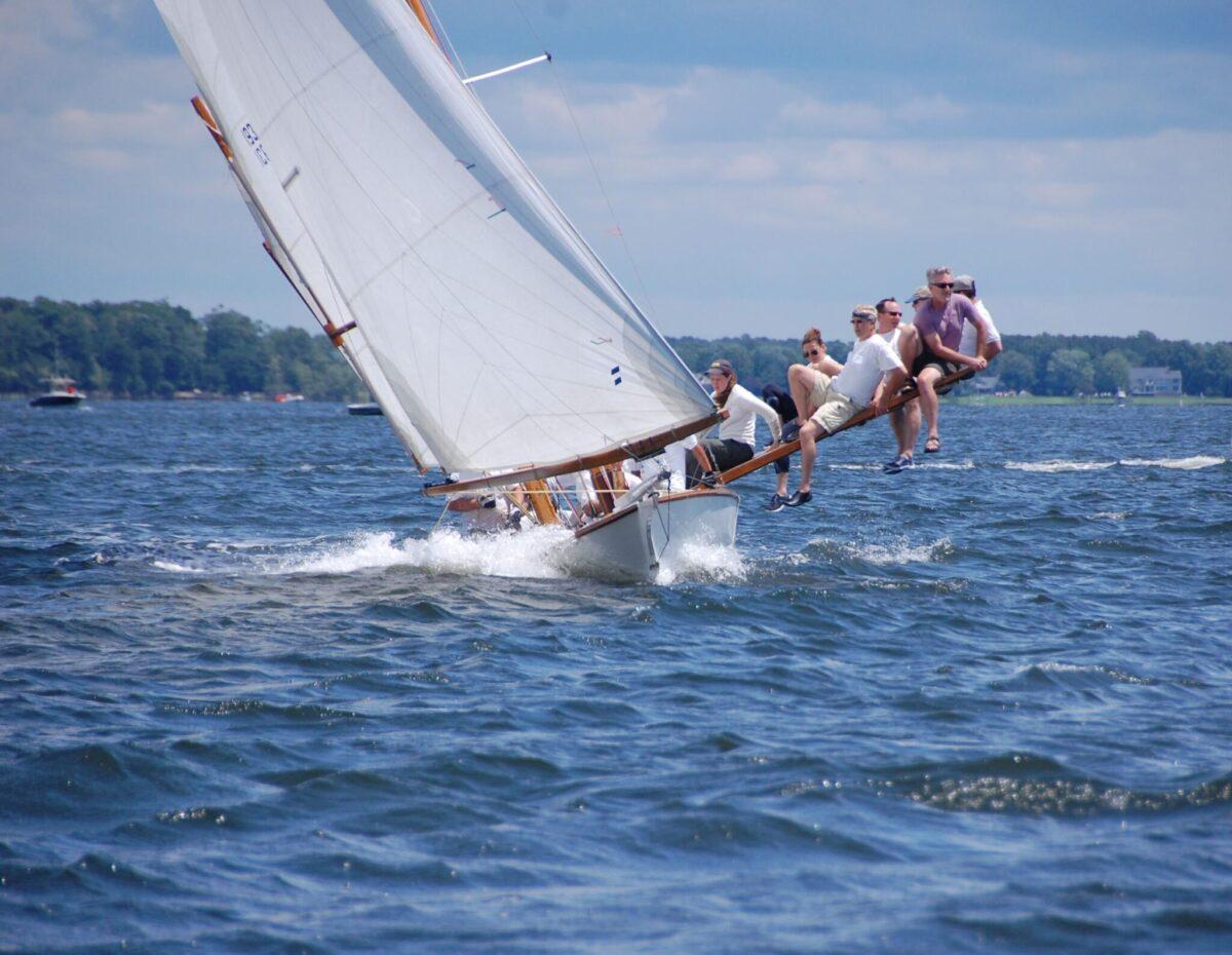 Log Canoe Racing. Photo: Courtesy of CBMM