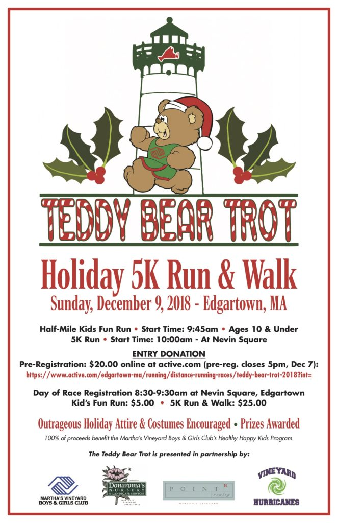 Teddy Bear Trot 5K Run & Walk Helps Martha's Vineyard Teddy Bear Suite Fundraiser