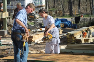 Mennonite Disaster Service volunteers