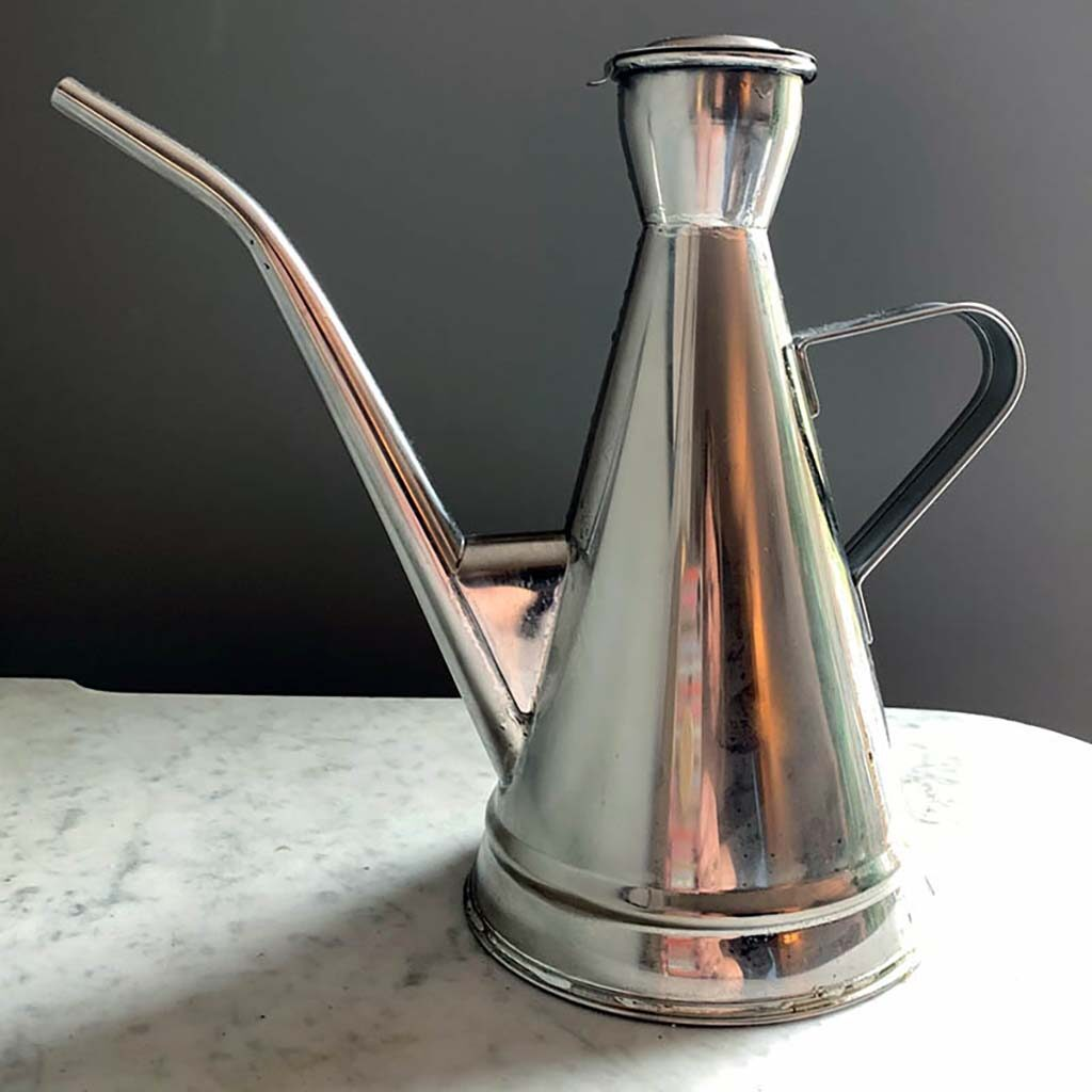 metal Olive Oil Pitcher from Schoolhouse