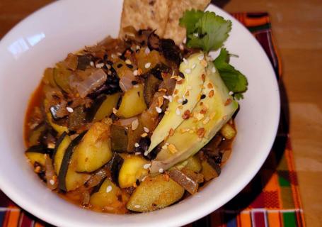 bowl of vegan chili