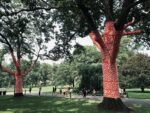 Cosmic Nature Red wrapped trees