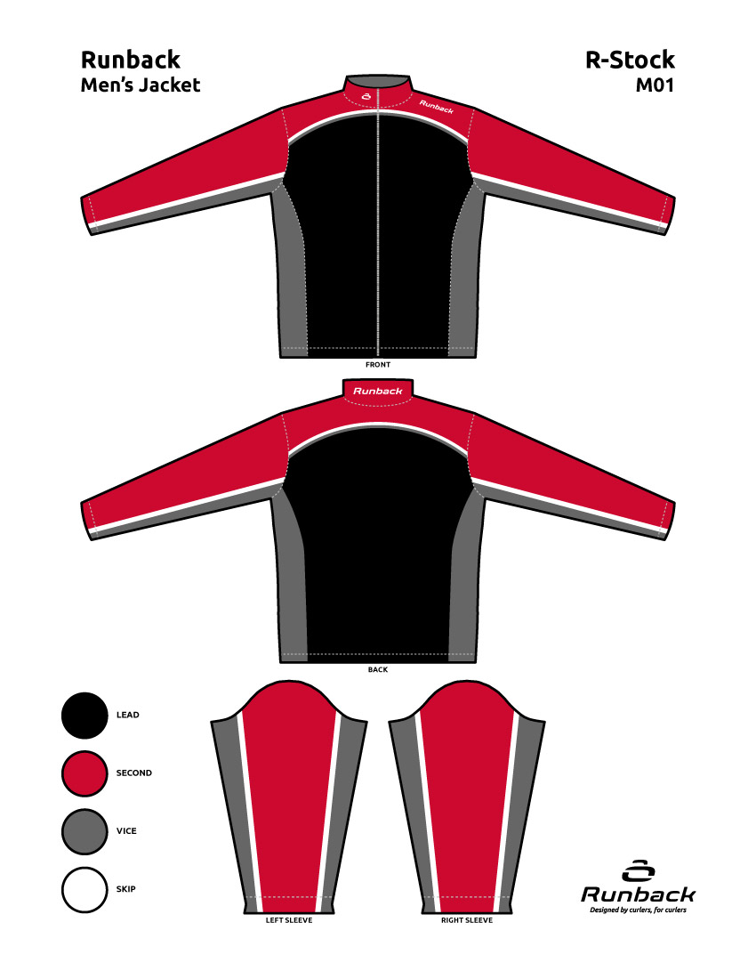 Runback Curling Jacket Stock Design M01