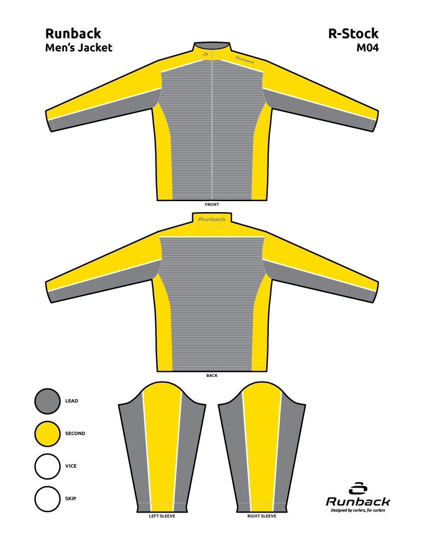 Runback Curling Jacket Stock Design M04