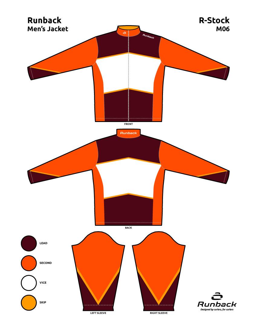 Runback Curling Jacket Stock Design M06