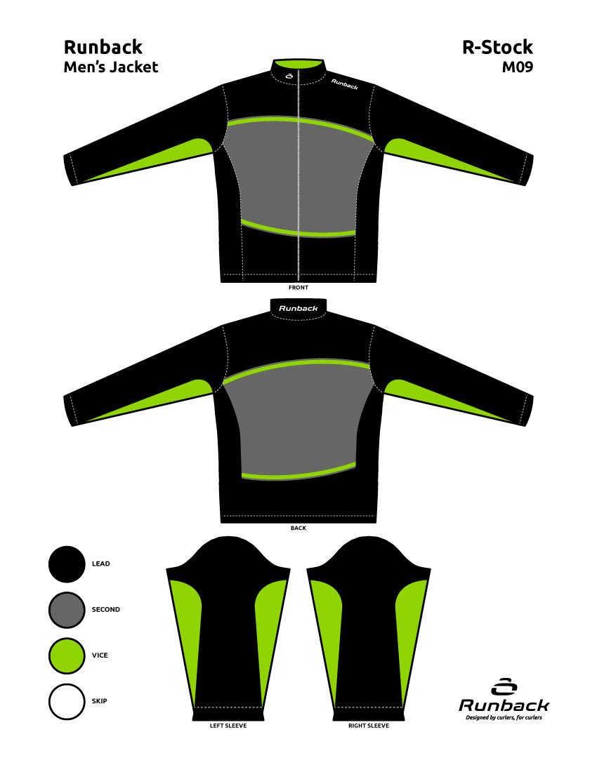 Runback Curling Jacket Stock Design M09