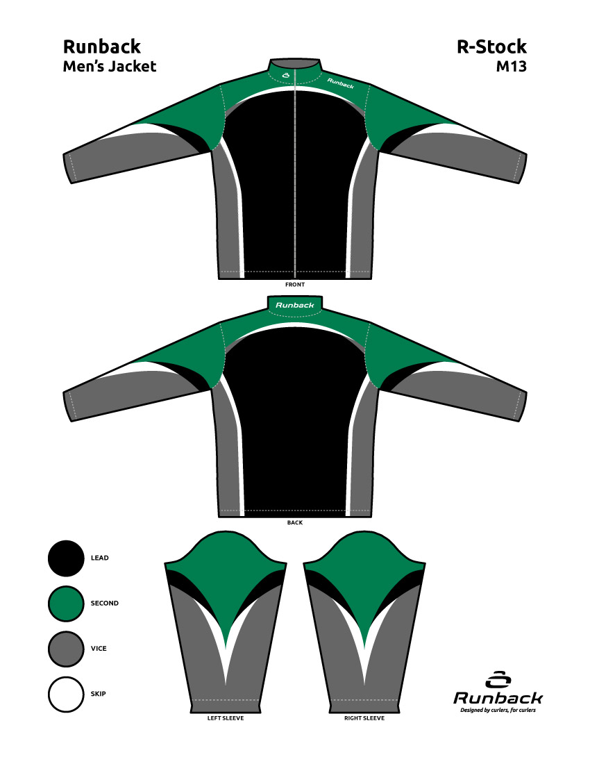 Runback Curling Jacket Stock Design M13