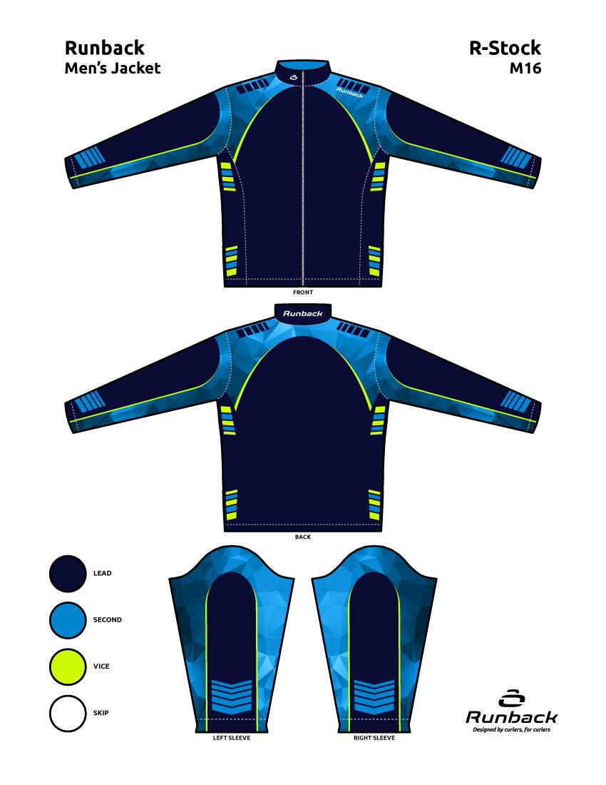 Runback Curling Jacket Stock Design M16