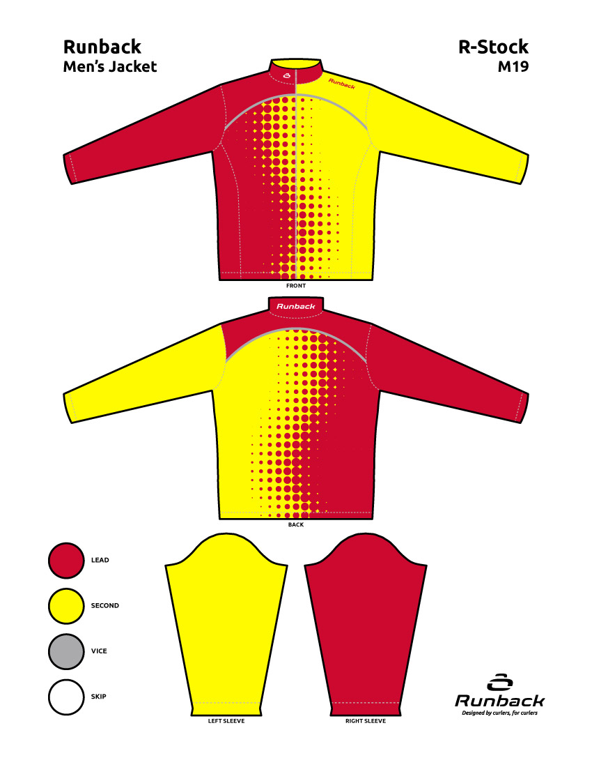 Runback Curling Jacket Stock Design M19