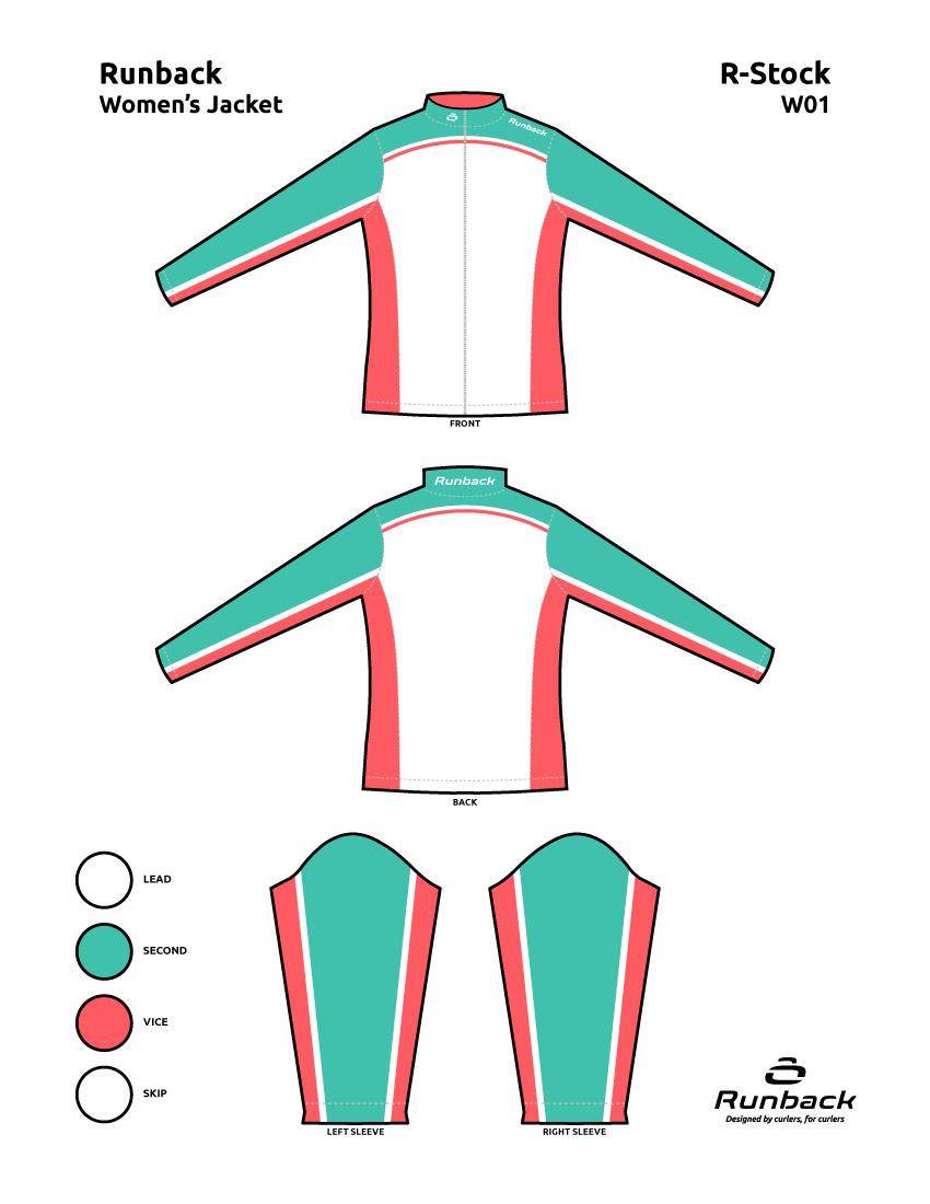 Runback Curling Jacket Stock Design W01