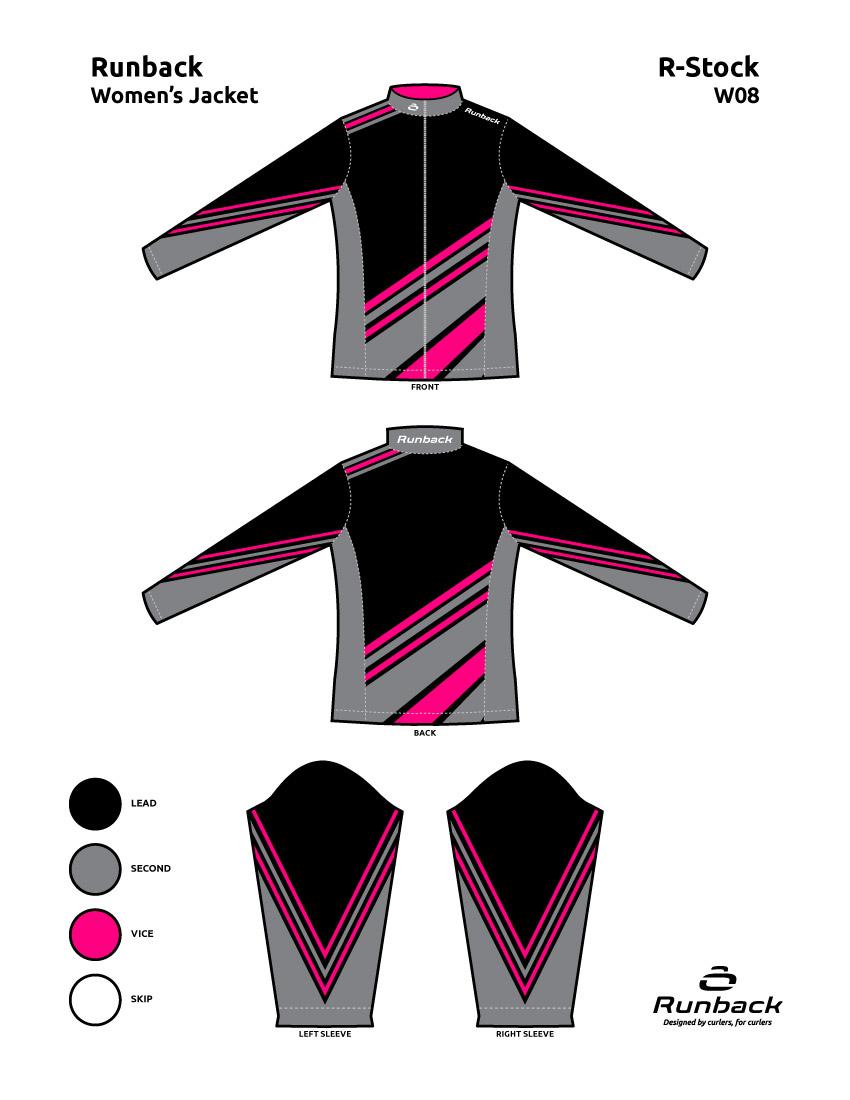 Runback Curling Jacket Stock Design W08