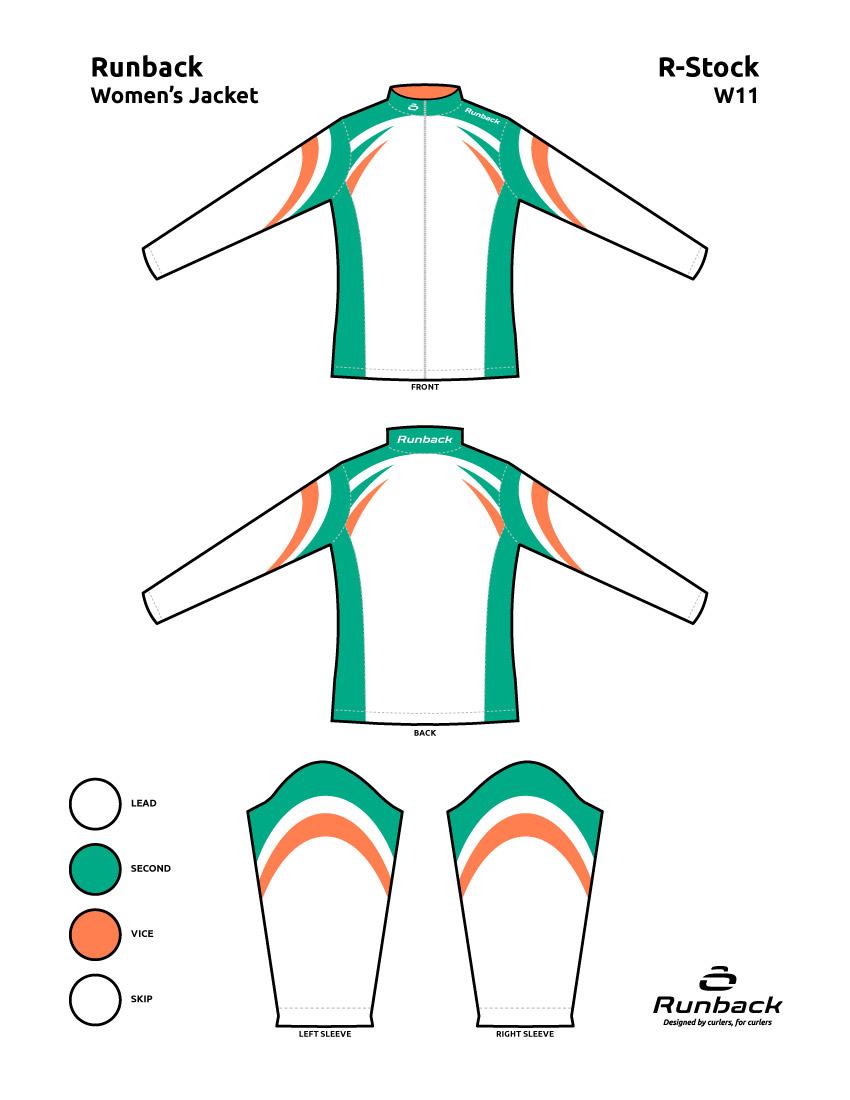 Runback Curling Jacket Stock Design W11