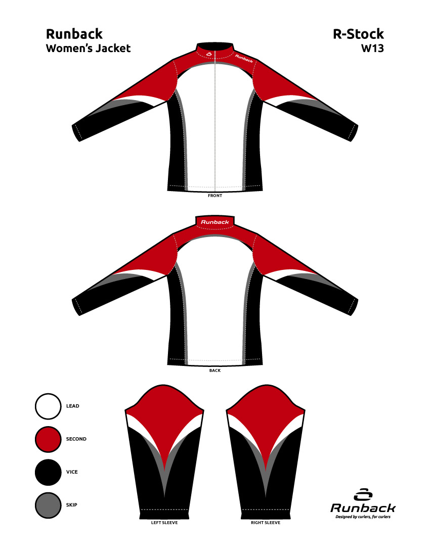 Runback Curling Jacket Stock Design W13