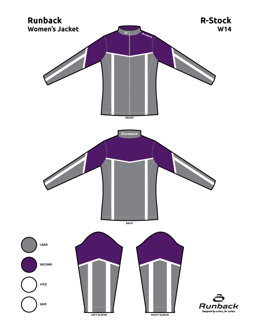 Runback Curling Jacket Stock Design W14