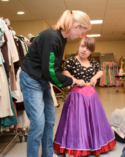 Lyndsey Hawkes gets a costume fitting.    ( Jonathan Daisy; DaisyDesignPhotography)