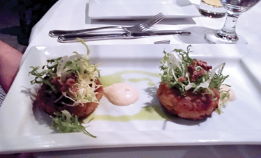 """Crab cakes that were """"outrageously good"""" at Fish (Rob Kean)"""