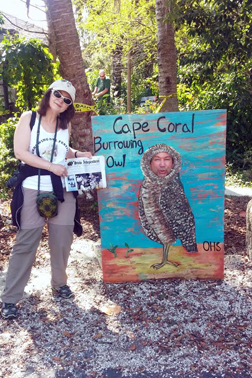 Drew and Cathy Simmons took the Stow Independent to the Burrowing Owl Festival in Cape Coral, Florida. These little Burrowing Owls are about the size of a soda can, and live in holes in the ground in Cape Coral!