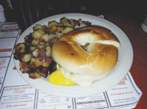 "The egg sandwich tucked neatly into an ""uber fresh"" bagel                                                           Ann Needle"