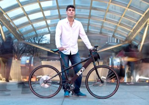 Jeff Stefanis and his self-designed Riide electric bike                                              ( Courtesy )