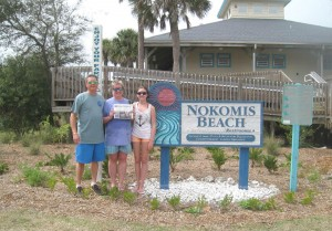 Peter, Myie & Emma Yvanovich at Nokomis Beach (south of Sarasota), FL. February vacation. The weather was beautiful, enough for a quick dip.