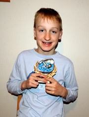 Quinn Gross  with his MVP award Courtesy