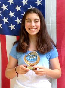 Molly Trunfio with her MVP award Courtesy