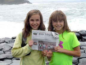 Hayley and Norah Bracci at Giant's Causeway in Ireland
