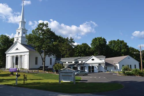 The First Parish Church of Stow and Acton, in Stow center,  is nearly finished with the  renovation project that added a connector between the church and fellowship hall buildings. For more on what other changes were made, see the story below left.  Ann Needle