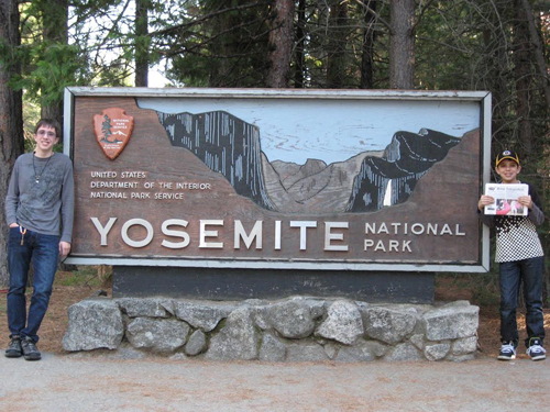 Marco and Brenden Locarno enjoyed the hiking trails, waterfalls and sequoias of Yosemite National Park during their spring vacation.