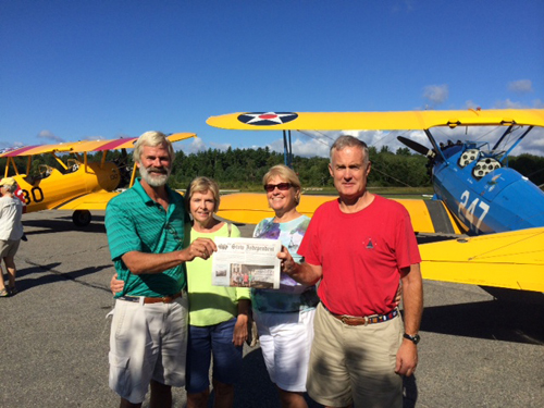 Good friends Jack and Marcia Williams came to Minute Man Airfield to see the fantastic biplanes and have a delicious breakfast at Nancy's Airfield Cafe with the Perrys.
