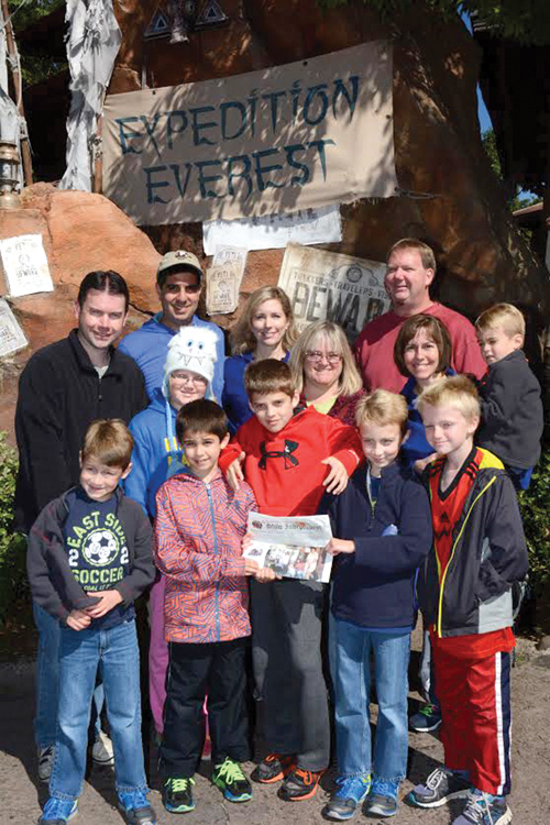 The Kostas, Sears, and Shaw families met up at Animal Kingdom in Walt Disney World for a thrilling ride on Expedition Everest in November.