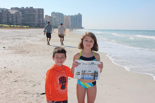 Jenna and Jake Gale on the beach on  a family trip to Marco Island, FL this November.
