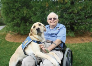 Zemansky's most recent graduate dog,  Jason, poses with client Cpl. Matt Raible (USMC Ret.)                                                         Courtesy of Canine Companions for Independence