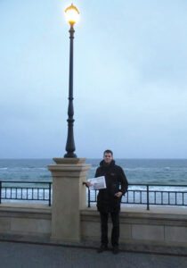 Forrest Hangen, 20, Nashoba Class of '13,  is currently serving a volunteer 2-year mission for the Church of Jesus Christ of Latter-day Saints in Ukraine. This photo was taken on the shores of the Black Sea in Odessa in November.