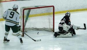 Senior Kevin Gilchrest sends one into Gardner's net.                                                                       Adrian Flatgard; frequentflyerphotographer@gmail.com
