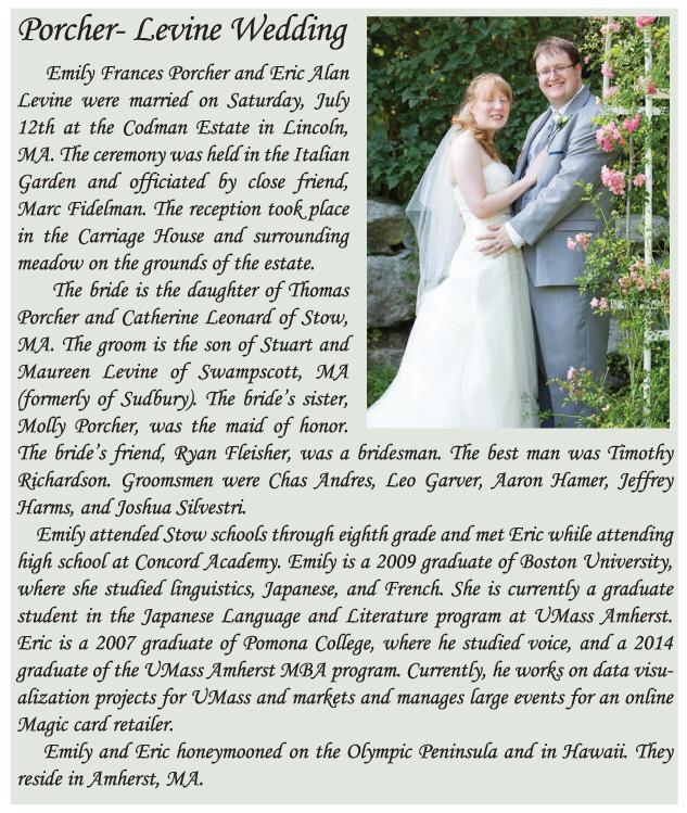 WEB Stow Wedding announce